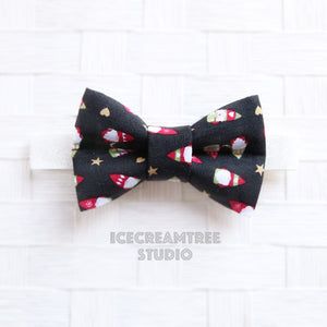 Black Little Gnomes Bow Tie - Pet Bow Tie