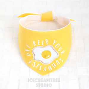 Keep your Sunnyside Up! Egg Bandana - Tie on Modern Pet Bandana Scarf
