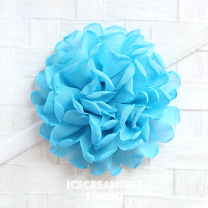 Giant Light Blue Bloom Collar Slide On - Large Flower Collar Accessory