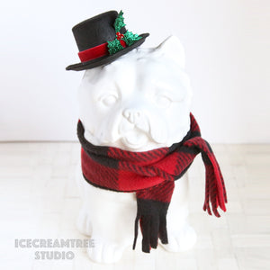Snowman Hat and Scarf Set - Pet Costume Set