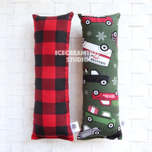Christmas Trucks / Red Plaid Catnip Kicker - Large Catnip Toy