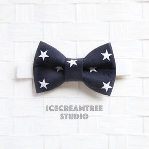 Navy Star Patriotic Bow Tie - Pet Bow Tie