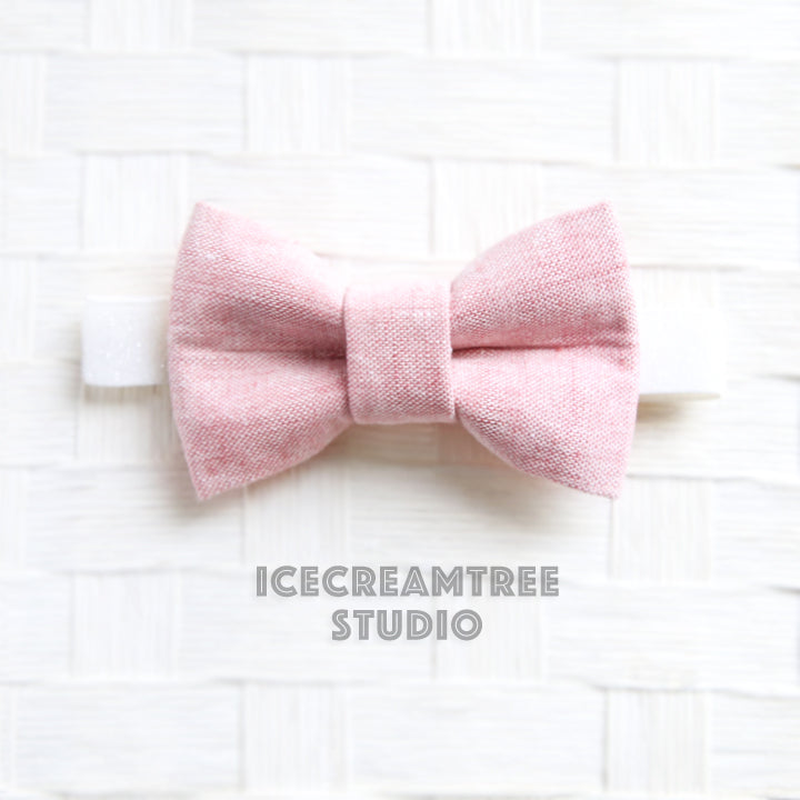 Light Pink Linen Bow Tie - Pet Bow Tie