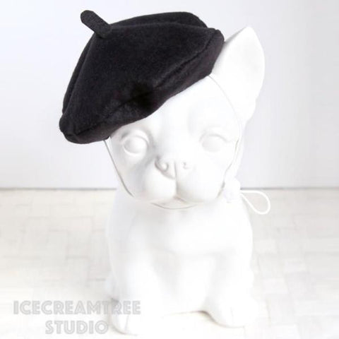Black Beret Hat - Pet Petite Hat