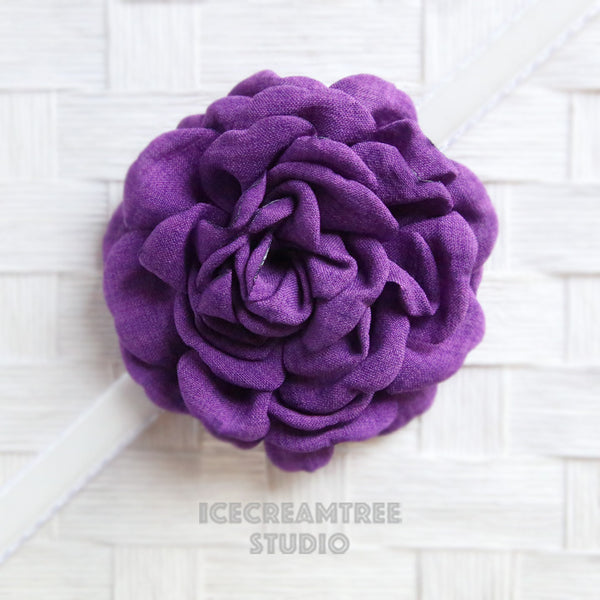 Large Purple Bloom Collar Slide On - Large Flower Collar Accessory