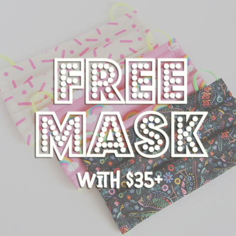 Black Friday Deal! Free Cotton Face Mask with $35+ Purchase