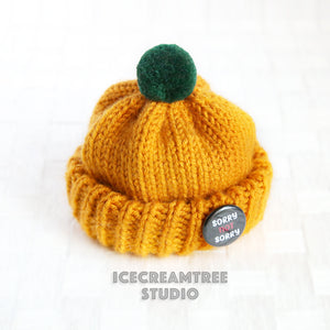 Golden Yellow Beanie - Pet Petite Hat