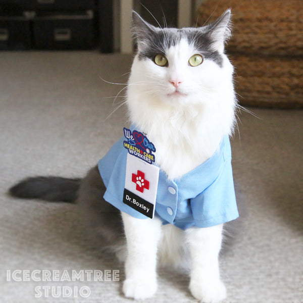 Medical Scrub Top Set - Pet Clothing
