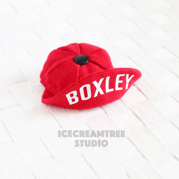 Tiny Red Cap with Name - Pet Petite Hat