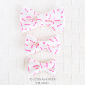 Neon Sprinkle Bow - Collar Slide on Bow