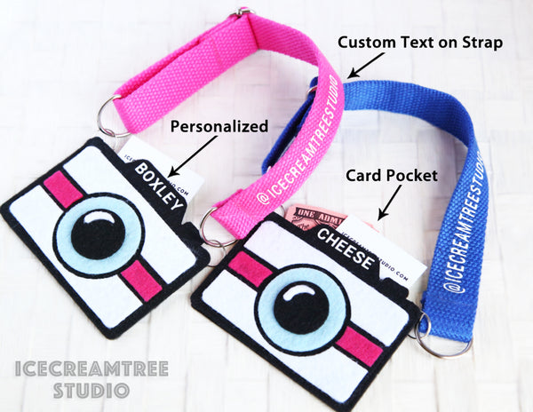 Pink Camera Necklace - Pet Photo Accessories