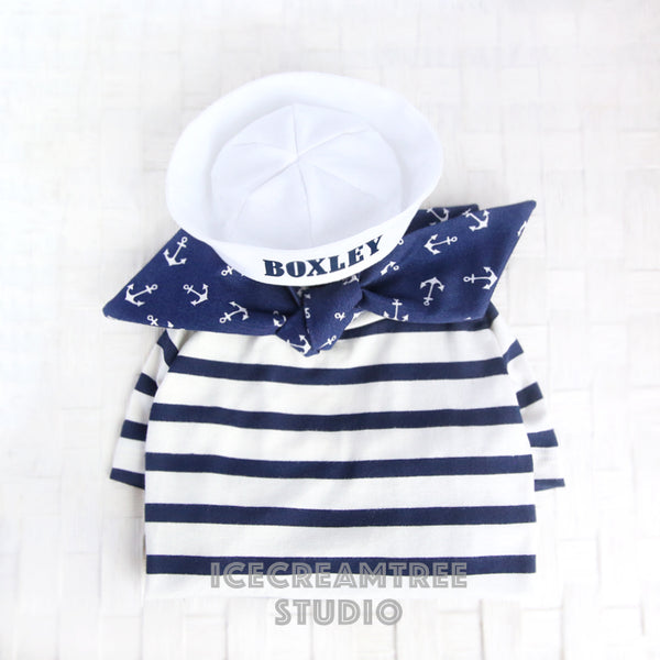 Sailor Look Outfit Set - Pet Clothing