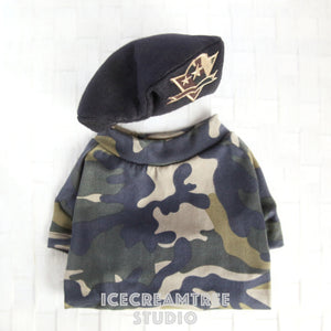 Military Look Outfit Set - Pet Costume Set