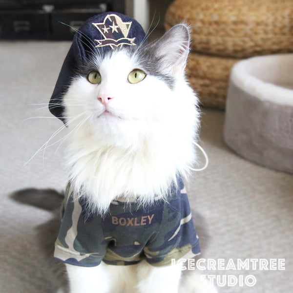Military Look Outfit Set - Pet Clothing