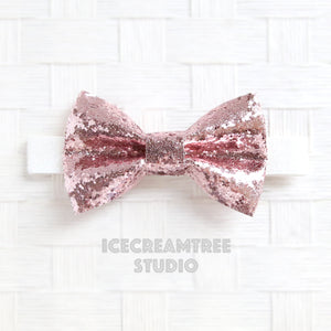 Sparkle Glitter Rose Gold Bow Tie - Pet Bow Tie