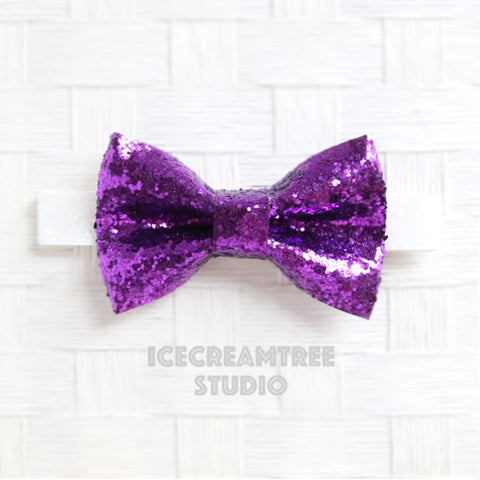 Sparkle Glitter Purple Bow Tie - Pet Bow Tie