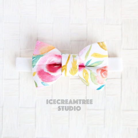 Watercolor Floral Bow Tie - Pet Bow Tie