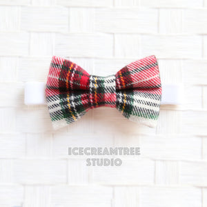 Flannel Classic Winter Plaid Bow Tie - Pet Bow Tie