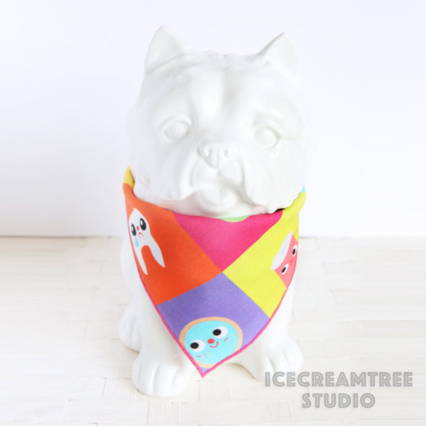 Pop Color Fun Bandana - Tie on Classic Pet Bandana Scarf
