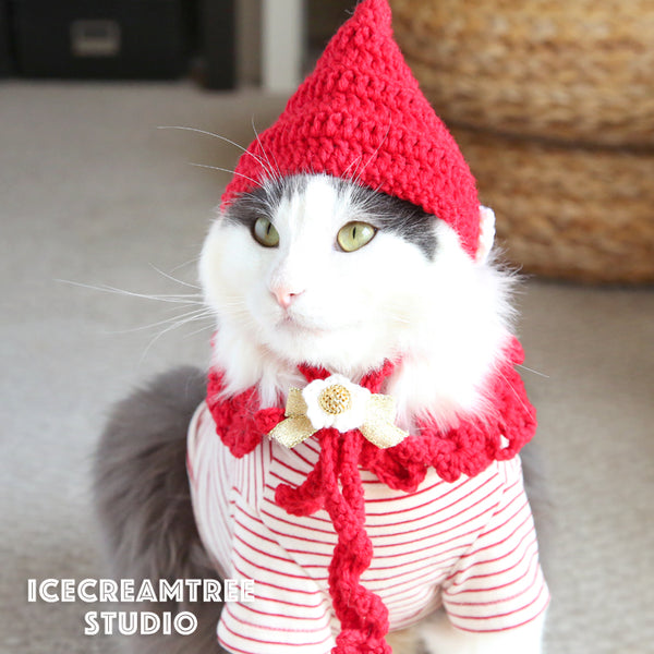 Pixie Hat & Cape Scarf - Pet Clothing
