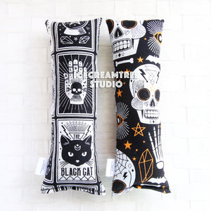 Spooky Skulls / Black Cat Catnip Kicker - Large Catnip Toy