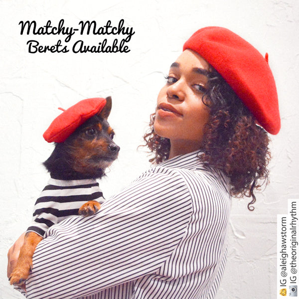 Dog Cat Mom and Me Beret Hats - Matching Beret Sets