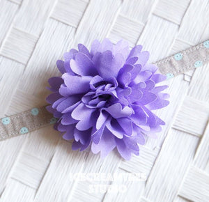Full Purple Bloom Collar Slide On - Large Flower Collar Accessory
