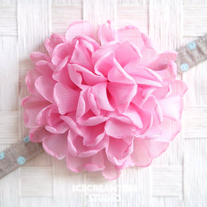 Giant Light Pink Bloom Collar Slide On - Large Flower Collar Accessory