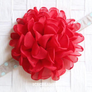 Giant Red Bloom Collar Slide On - Large Flower Collar Accessory
