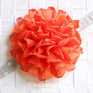 Giant Orange Bloom Collar Slide On - Large Flower Collar Accessory