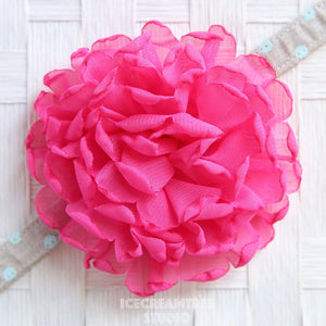 Giant Hot Pink Bloom Collar Slide On - Large Flower Collar Accessory