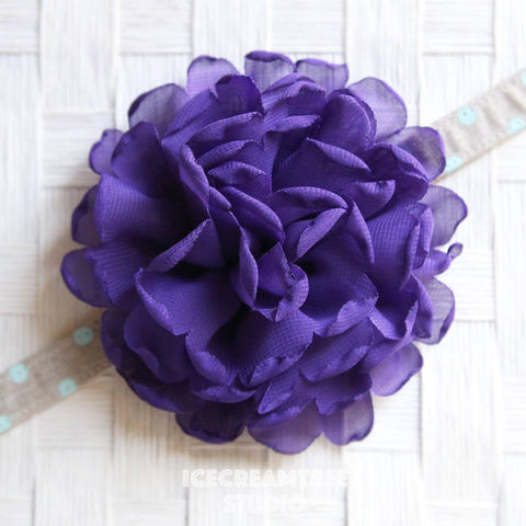 Giant Lilac Purple Bloom Collar Slide On - Large Flower Collar Accessory