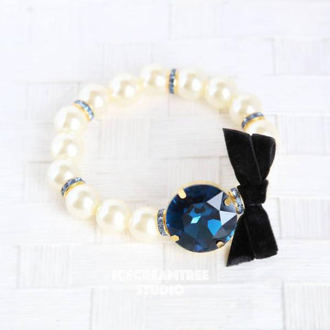 Deep Blue Big Pearl Necklace
