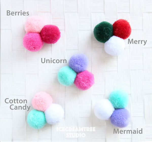 Big Unicorn Pom Pom - Pom Pom Collar Accessory
