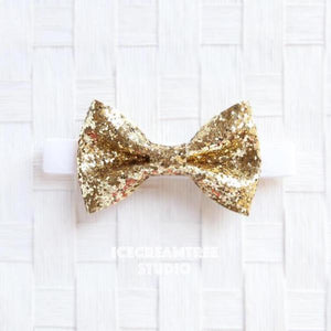 Sparkle Glitter Gold Bow Tie - Pet Bow Tie