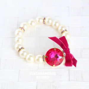 Hot Pink Big Pearl Necklace