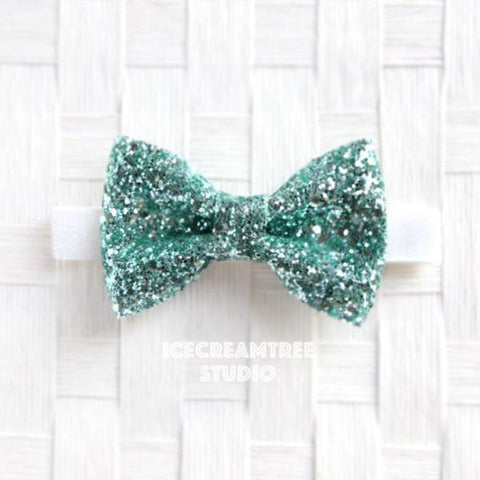 Sparkle Glitter Mint Green Bow Tie - Pet Bow Tie
