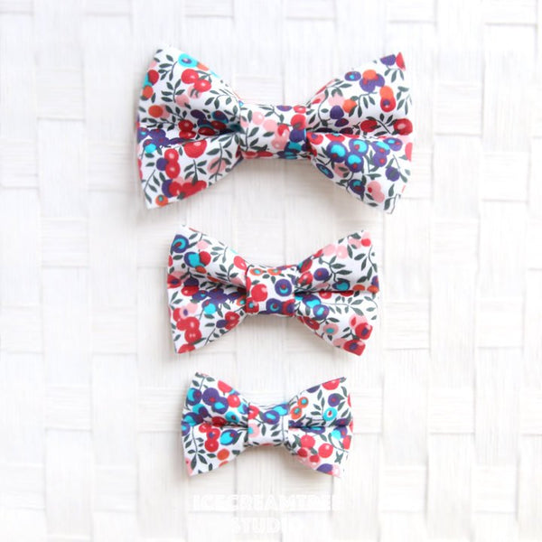 Liberty London Wiltshire Berry Bow - Collar Slide on Bow