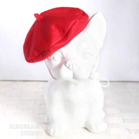Red Beret Hat - Pet Petite Hat