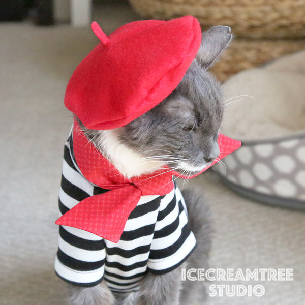 French Look Outfit Set - Pet Clothing