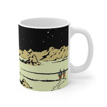 Load image into Gallery viewer, Ceramic Coffee Mug 11oz - Tintin Rocket Moon