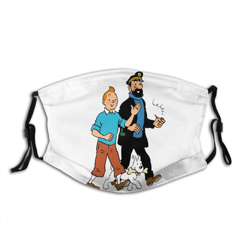 Tintin Snowy Haddock - Reusable Washable Breathable Adjustable Face Mask (With Filters)