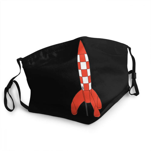 Destination Moon Rocket Standing - Reusable Washable Breathable Adjustable Face Mask