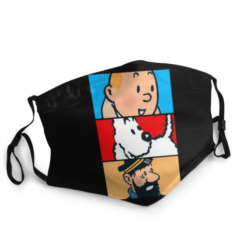 Tintin Snowy Haddock - Reusable Washable Breathable Adjustable Face Mask