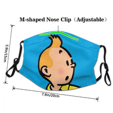 Load image into Gallery viewer, Tintin (Blue) - Reusable Washable Breathable Adjustable Face Mask