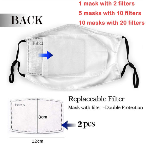 Crabe Extra - Reusable Washable Breathable Adjustable Face Mask (With Filters)