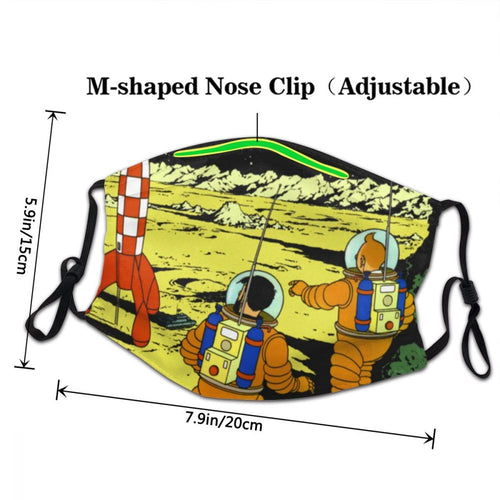 Destination Moon - Reusable Washable Breathable Adjustable Face Mask