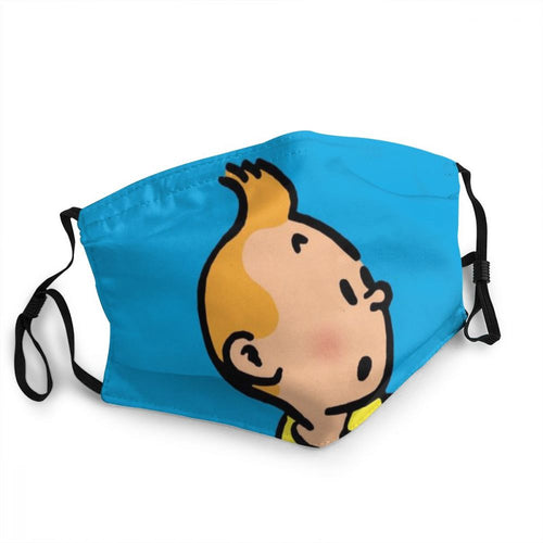 Tintin (Blue) - Reusable Washable Breathable Adjustable Face Mask