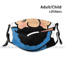 Load image into Gallery viewer, Captain Haddock - Reusable Washable Breathable Adjustable Face Mask (With Filters)