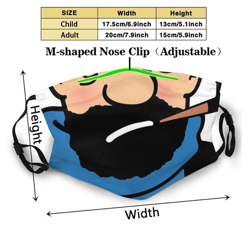 Captain Haddock - Reusable Washable Breathable Adjustable Face Mask (With Filters)